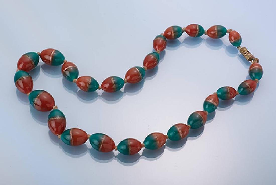 Necklace made of Muranoglass, approx. 1910/20