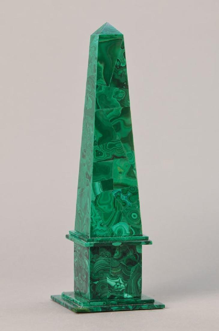 Obelisk, malachite