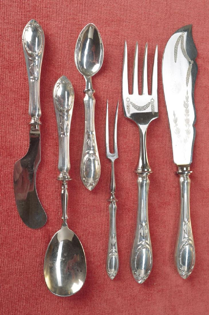 6 parts serving cutlery