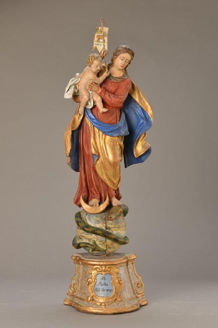 Antique figure of a saint