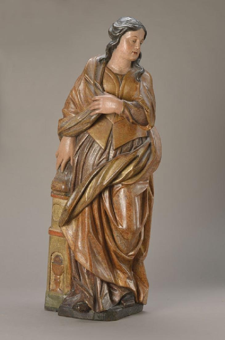 Sculpture of Saint Barbara