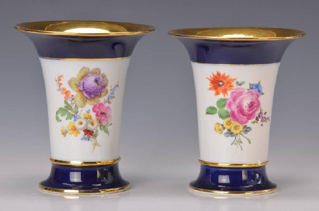 two vases, Meissen