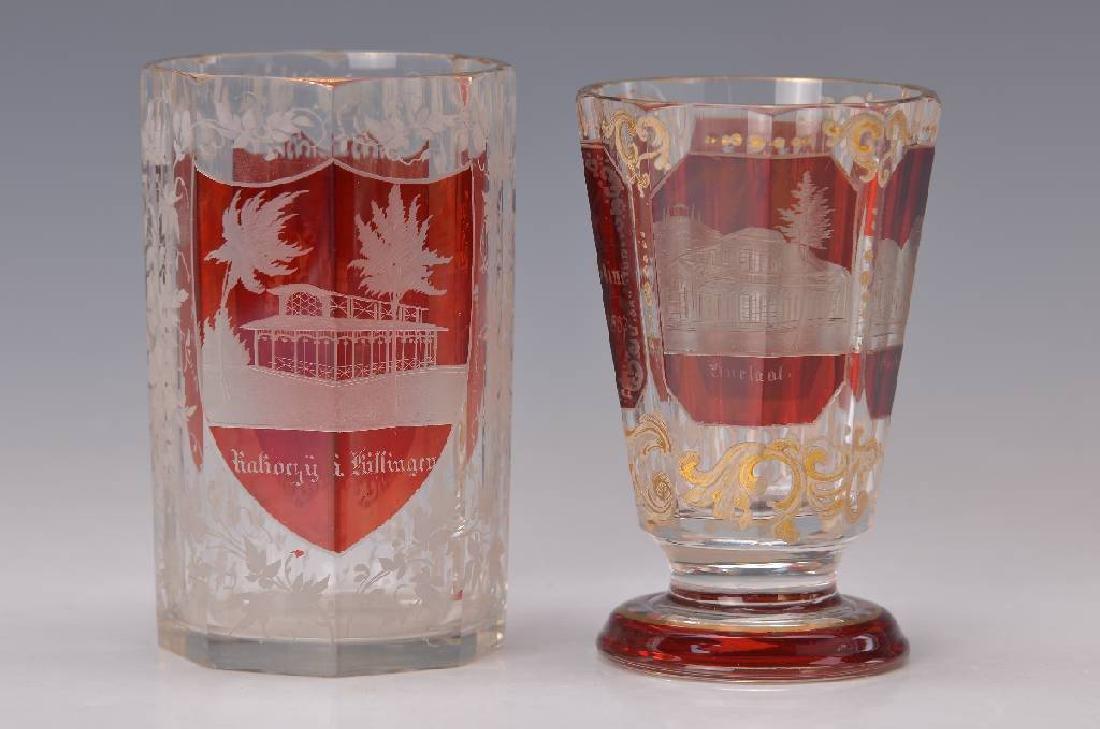 2 Souvenir glasses