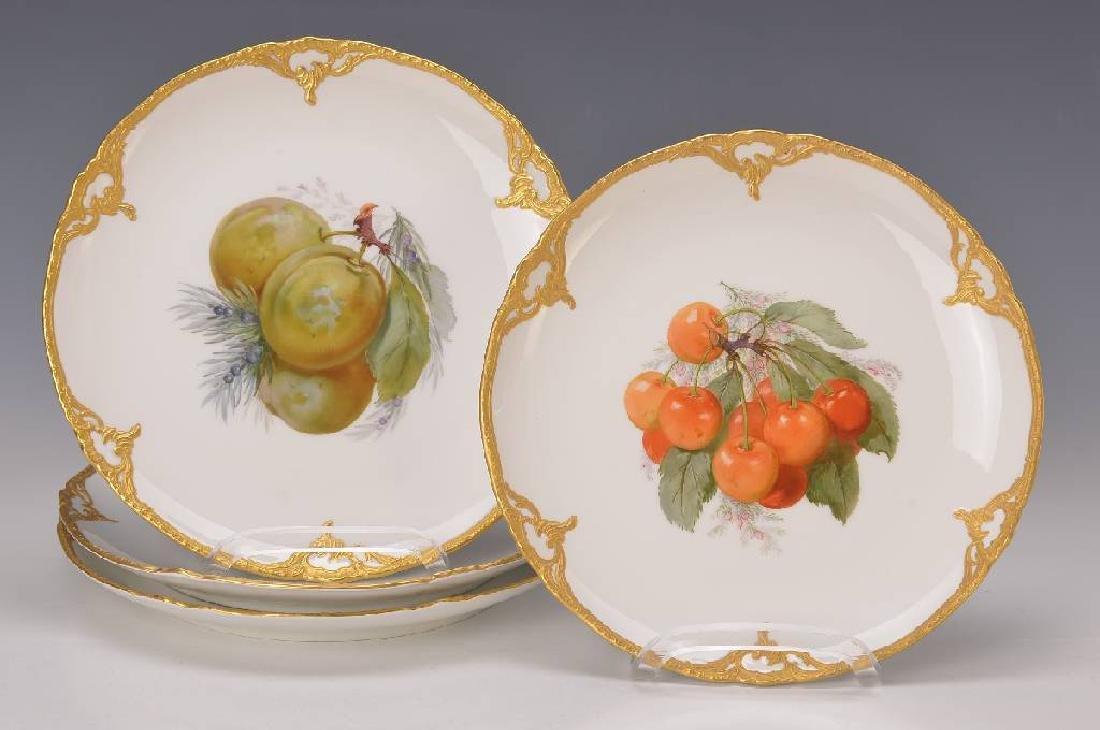Four fruit plates