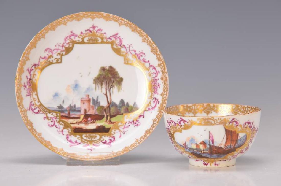beaker and saucer, Meissen