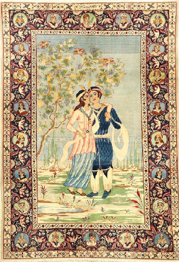 Kashan 'Pictorial Rug' (Signed),