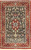 Fine Isfahan Rug (Part-Silk) 'Signed',