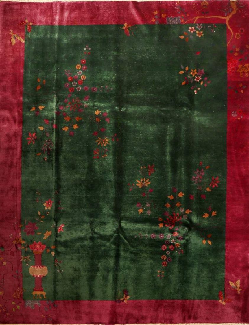 Chinese Green Ground Beijing 'Carpet',