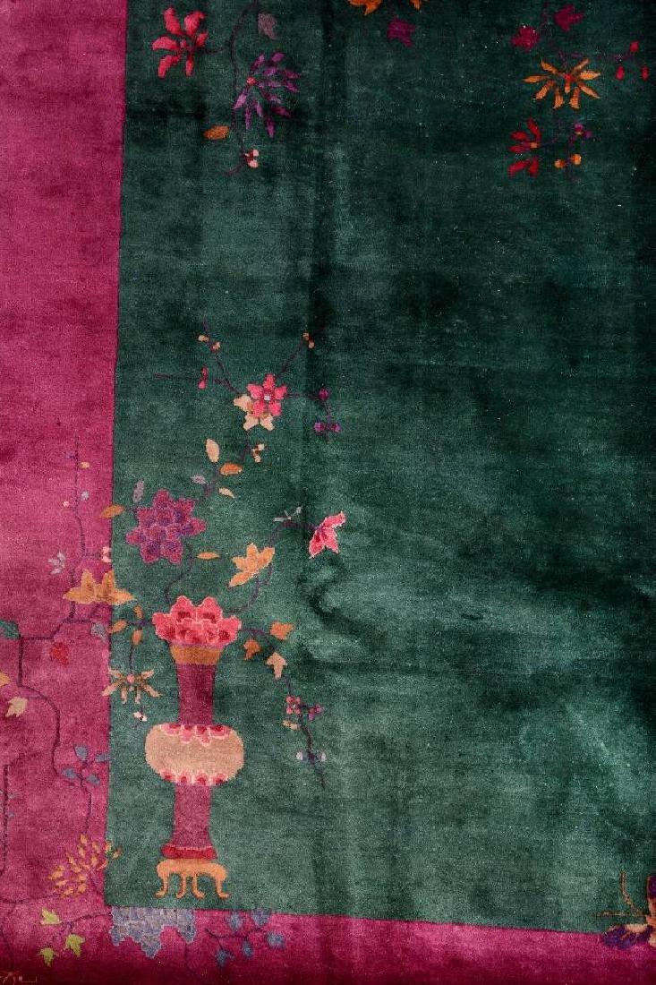 Chinese Green Ground Beijing 'Carpet', - 2