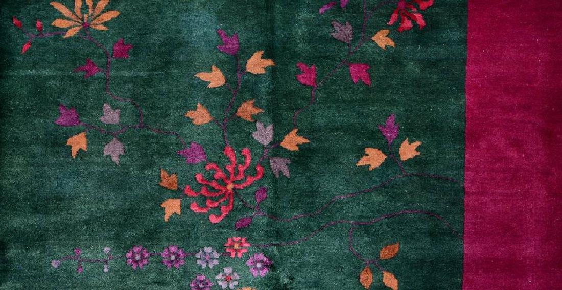 Chinese Green Ground Beijing 'Carpet', - 3
