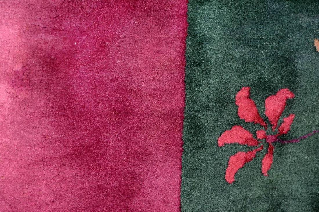 Chinese Green Ground Beijing 'Carpet', - 5