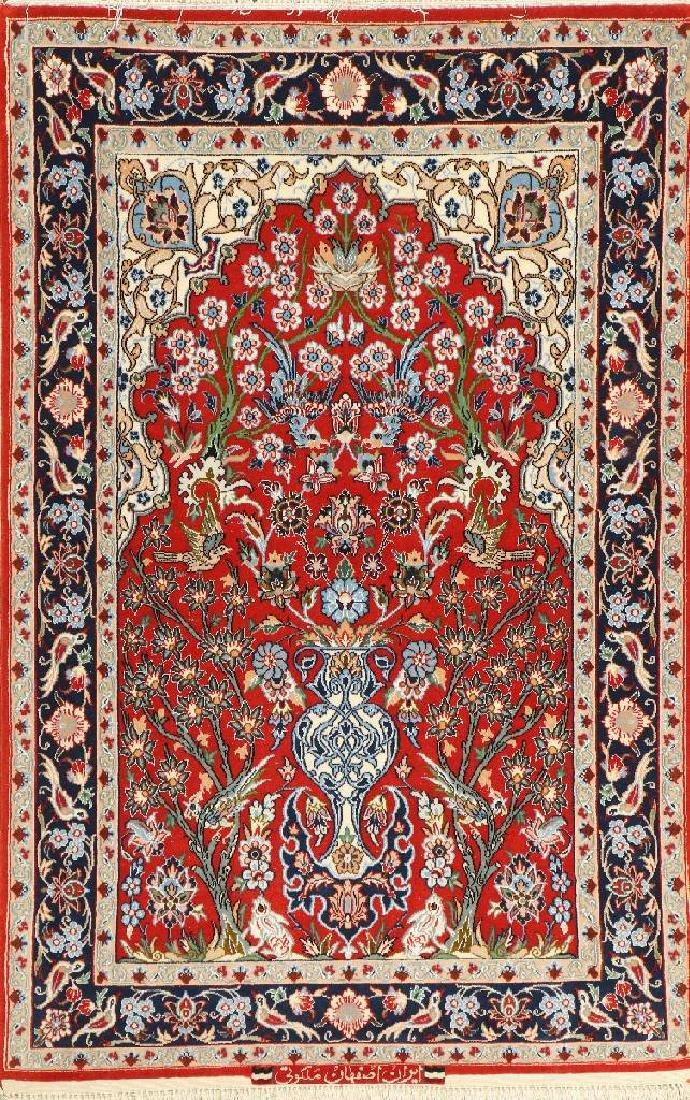 Fine Isfahan 'Malakuti' Rug 'Part-Silk' (Signed),