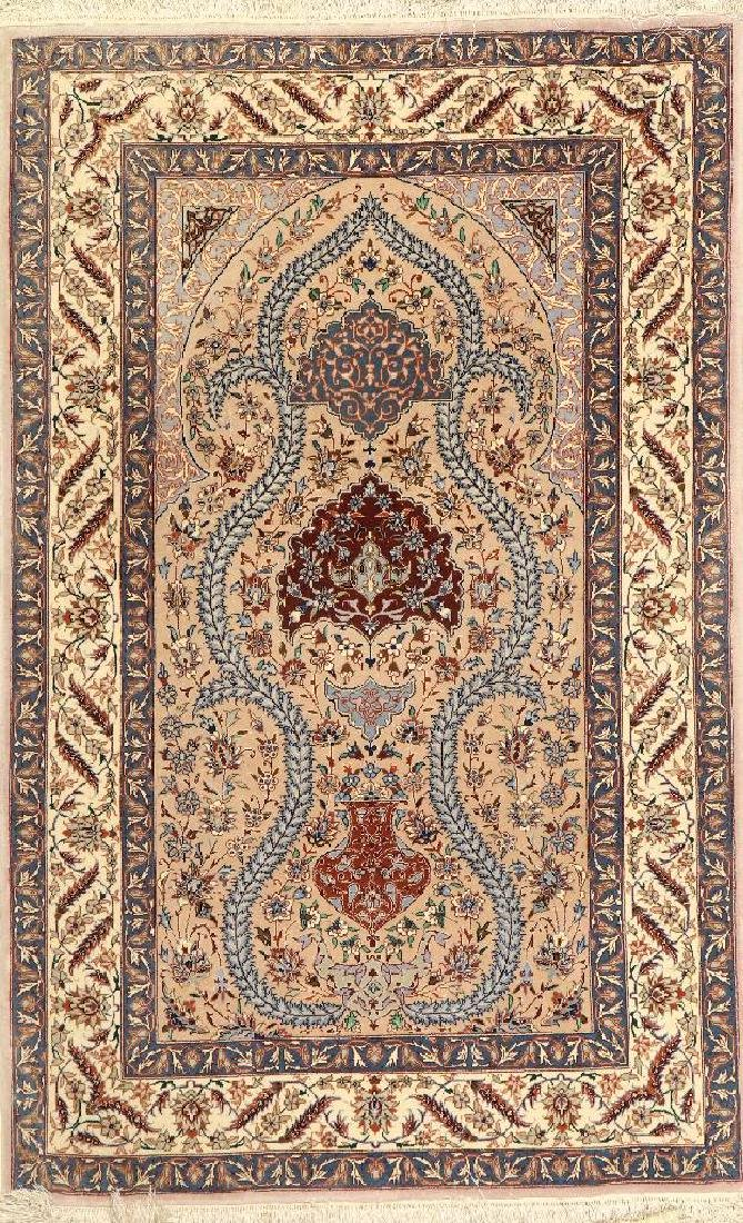Fine Chinese Isfahan Rug (Part-Silk),
