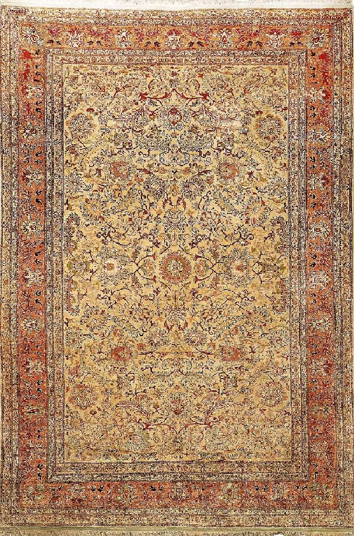 Silk & Metal-Thread Kaisery Carpet (Signed = Hereke),