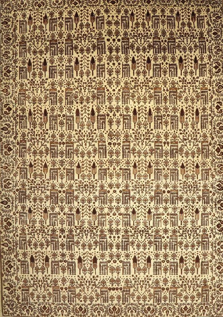 Unusual Tabriz Carpet (Tree Design),