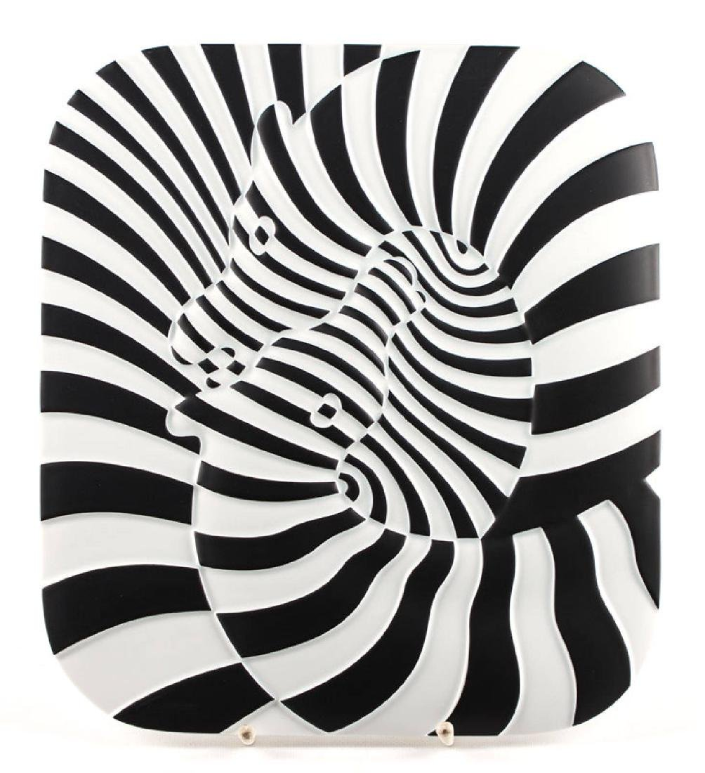 Victor Vasarely, 1906-1997, jubilee plate, porcelain