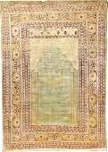 Fine Sky-Blue Silk Tabriz 'Hadji-Jalili' Rug,
