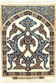 Fine 'Part-Silk' Isfahan 'Sadegh Seirafian' Rug