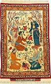 Fine Isfahan 'Seirafian' Pictorial Rug 'Signed' (Poet