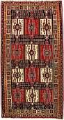 Fine Large Caucasian 'Part-Cotton' Kuba 'Kilim',