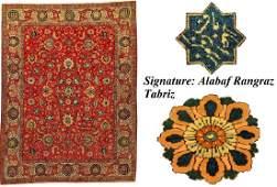 Fine Tabriz 'Alabaf Rangraz' Carpet 'Alabaf