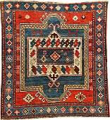 Square Kazak Rug (Acquired From Eberhart Herrmann In