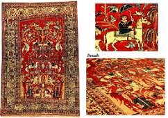 Very Fine Silk Heriz Rug (Fantasy Design),