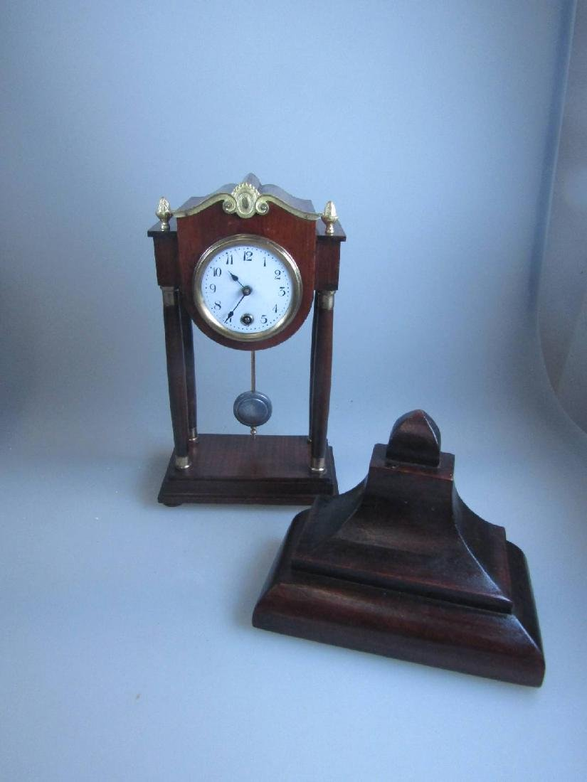miniature Portico clock - 2