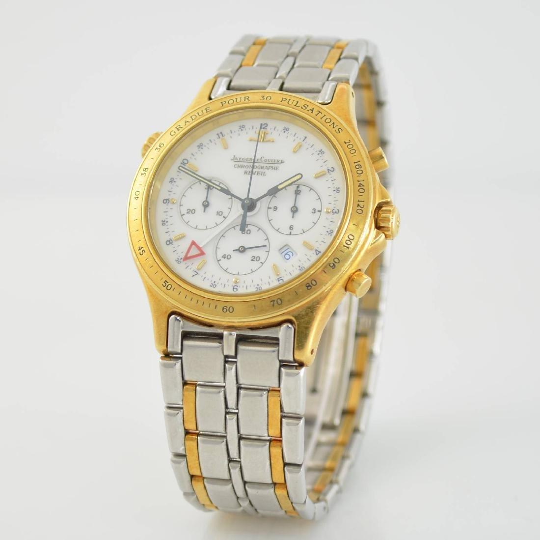 Jaeger-LeCoultre alarm wristwatch with chronograph - 3