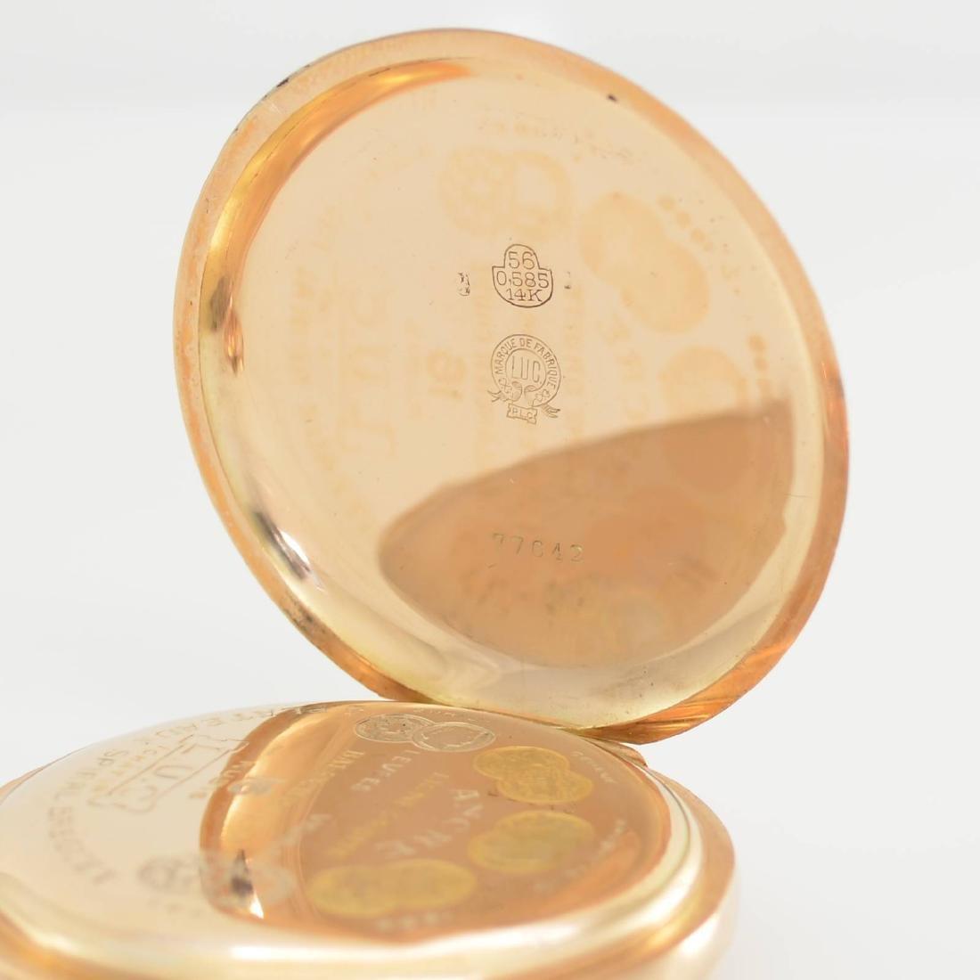 L.U.C. Chopard 14k pink gold pocket watch - 5