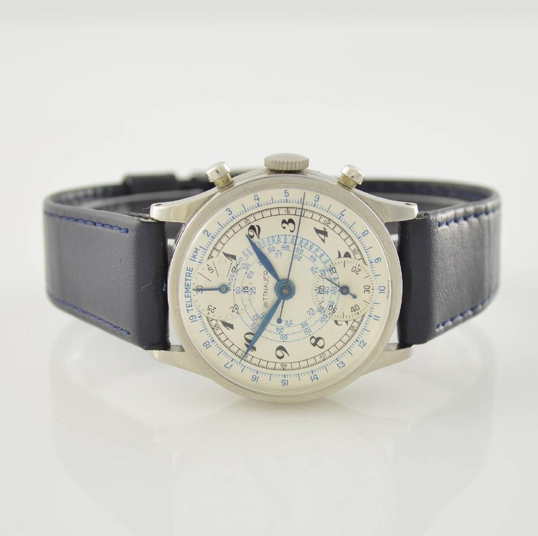 WITTNAUER gents wristwatch with chronograph in steel