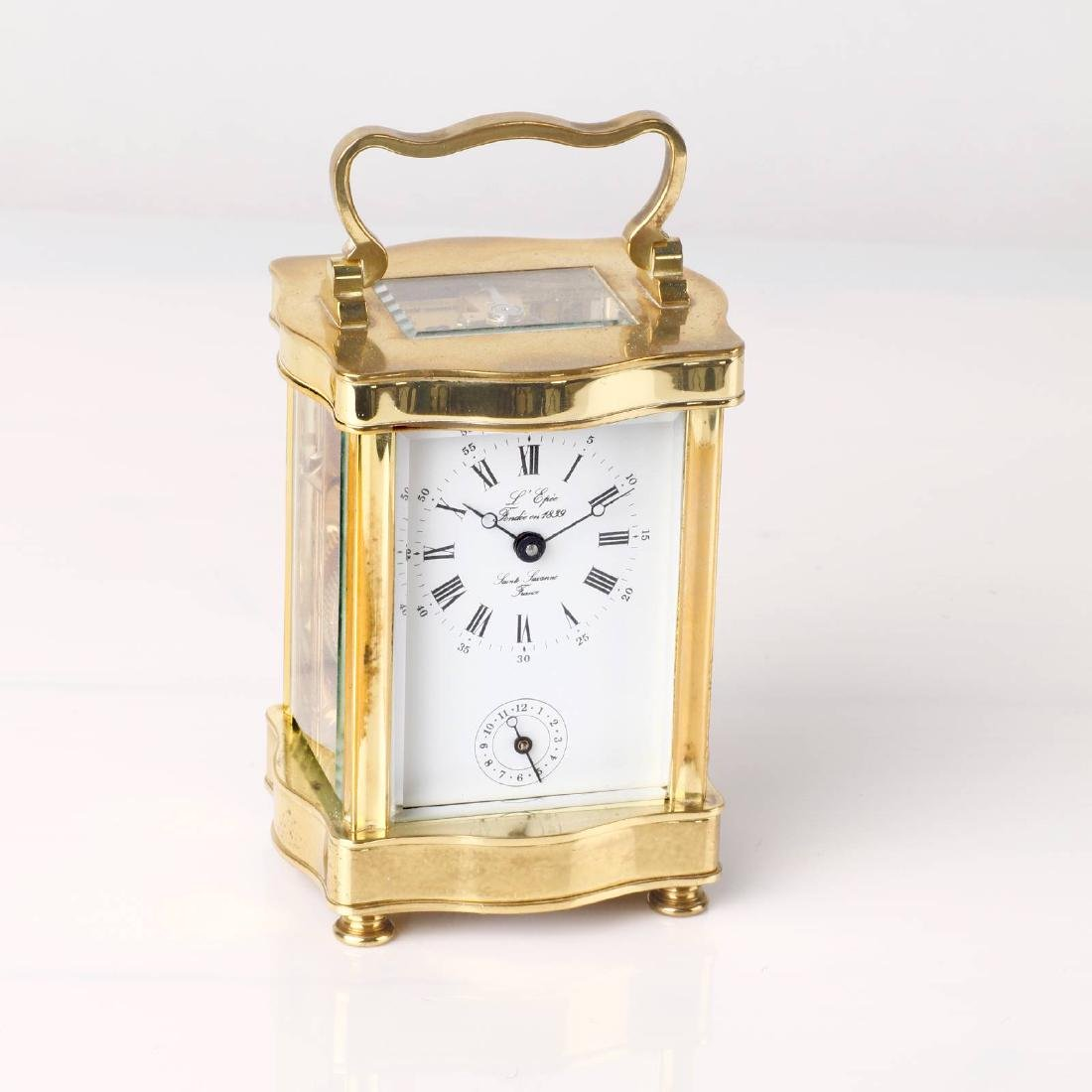L´EPÉE 8-days-carriage clock with alarm