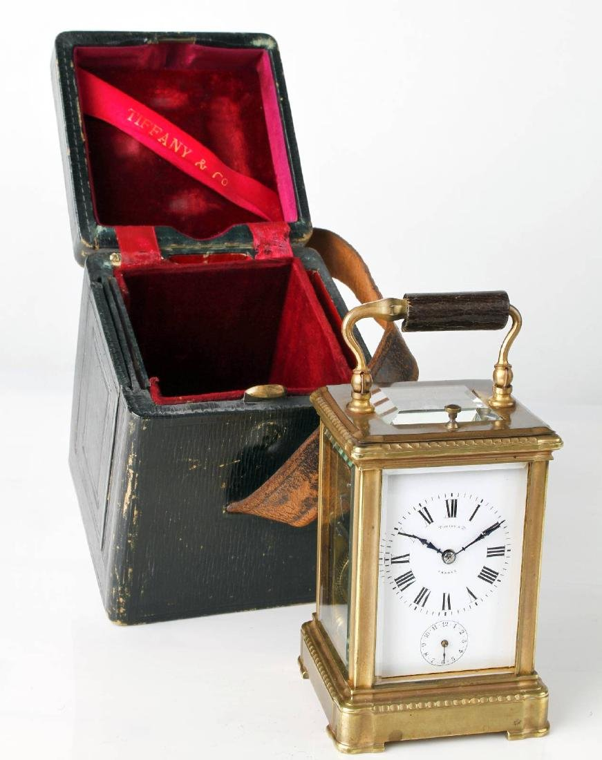 TIFFANY & CO carriage clock with 1/2-hour strike