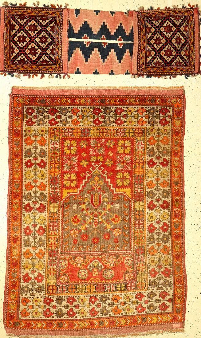 (2 Lots) 1x Anatolian Rug, 1x Heybe,