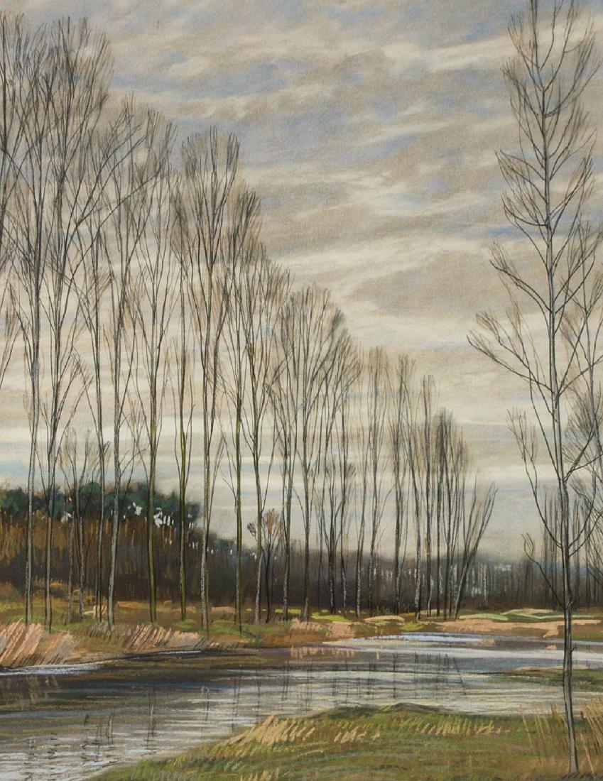 Werner Brand, born 1933 Löbau, pastel/paper, signed