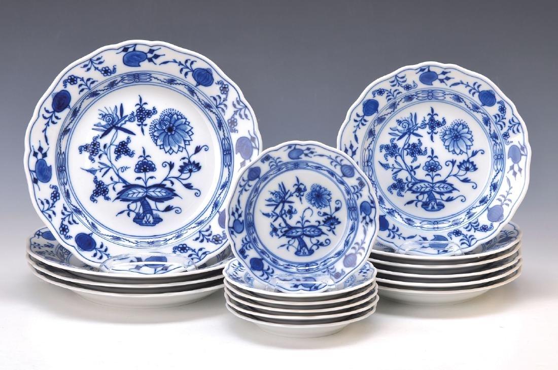 16 plates, Meissen