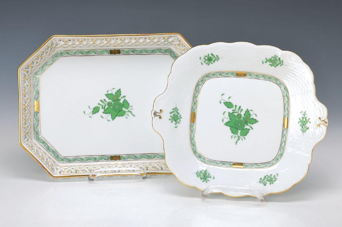 tray and bowl, Herend