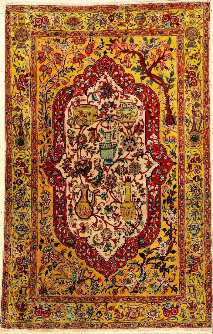 Silk Tabriz Rug,