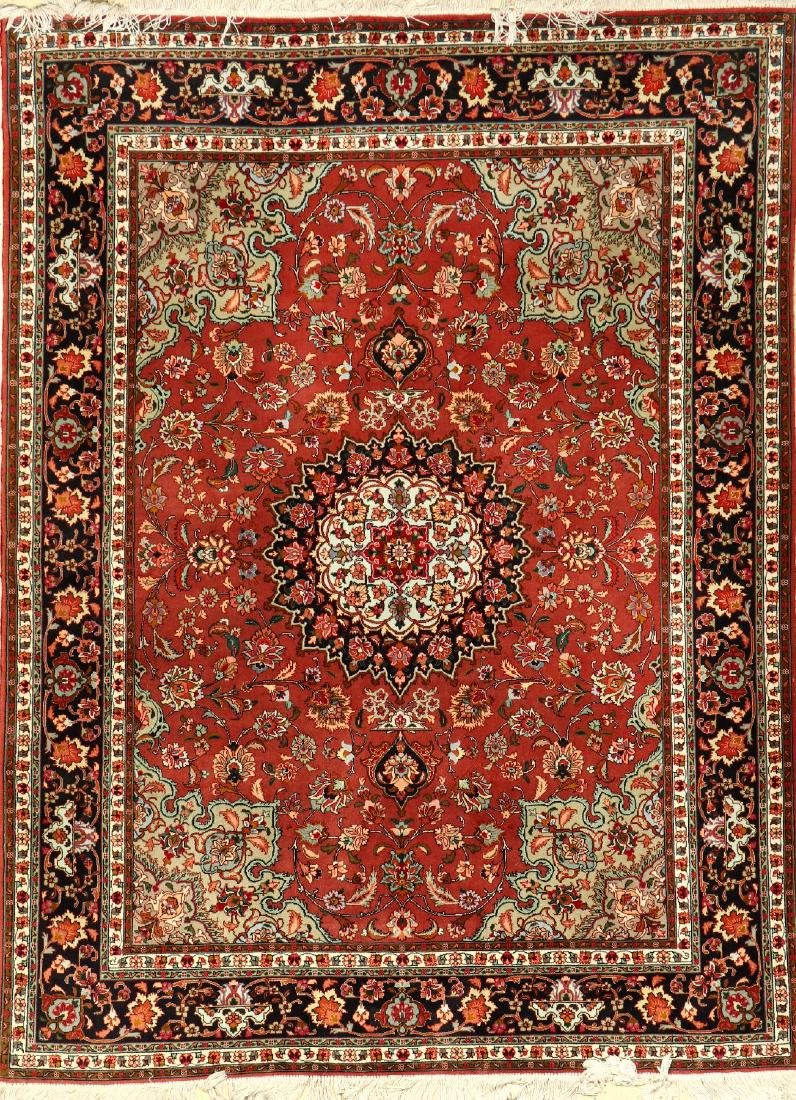 Fine 'Part-Silk' Tabriz Rug (50 RAJ),