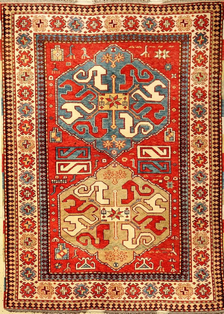 Azeri Kazak Rug (Chondzoresk Design),