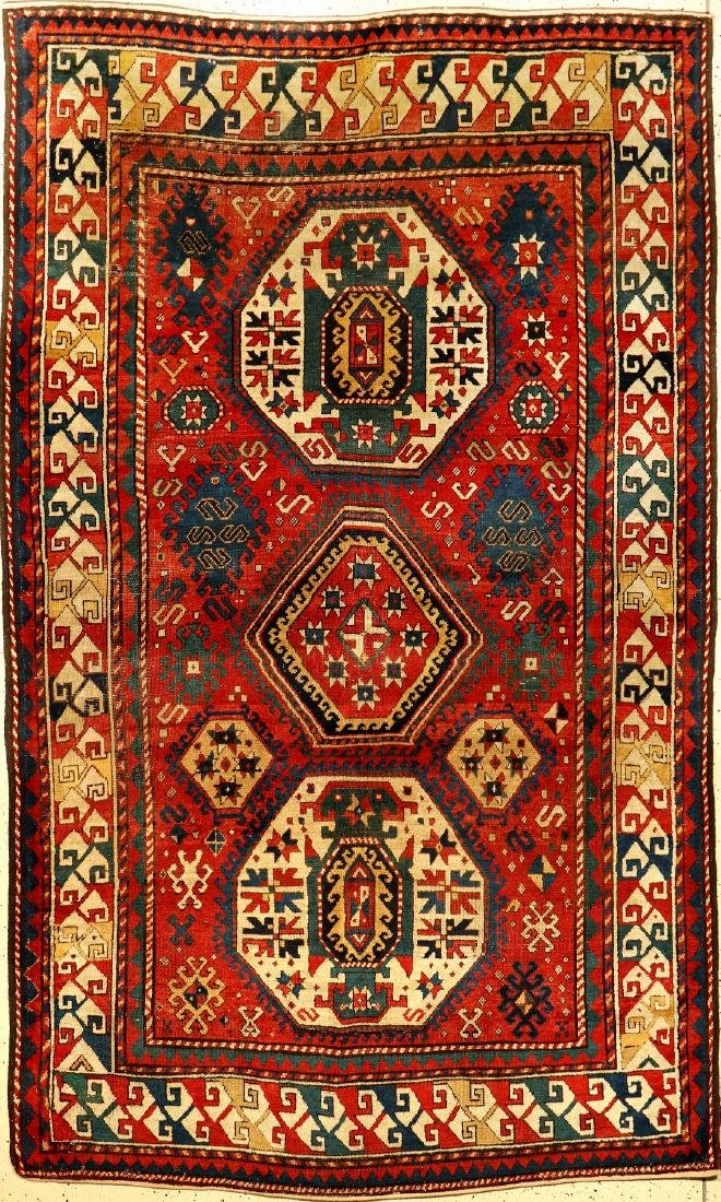Tree-Medallion Kazak Rug,