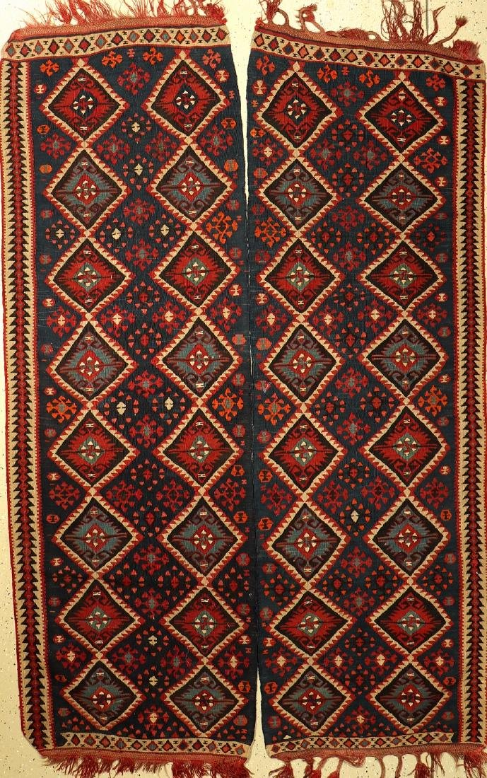 Metal-Thread Kurdish 'Kilim',