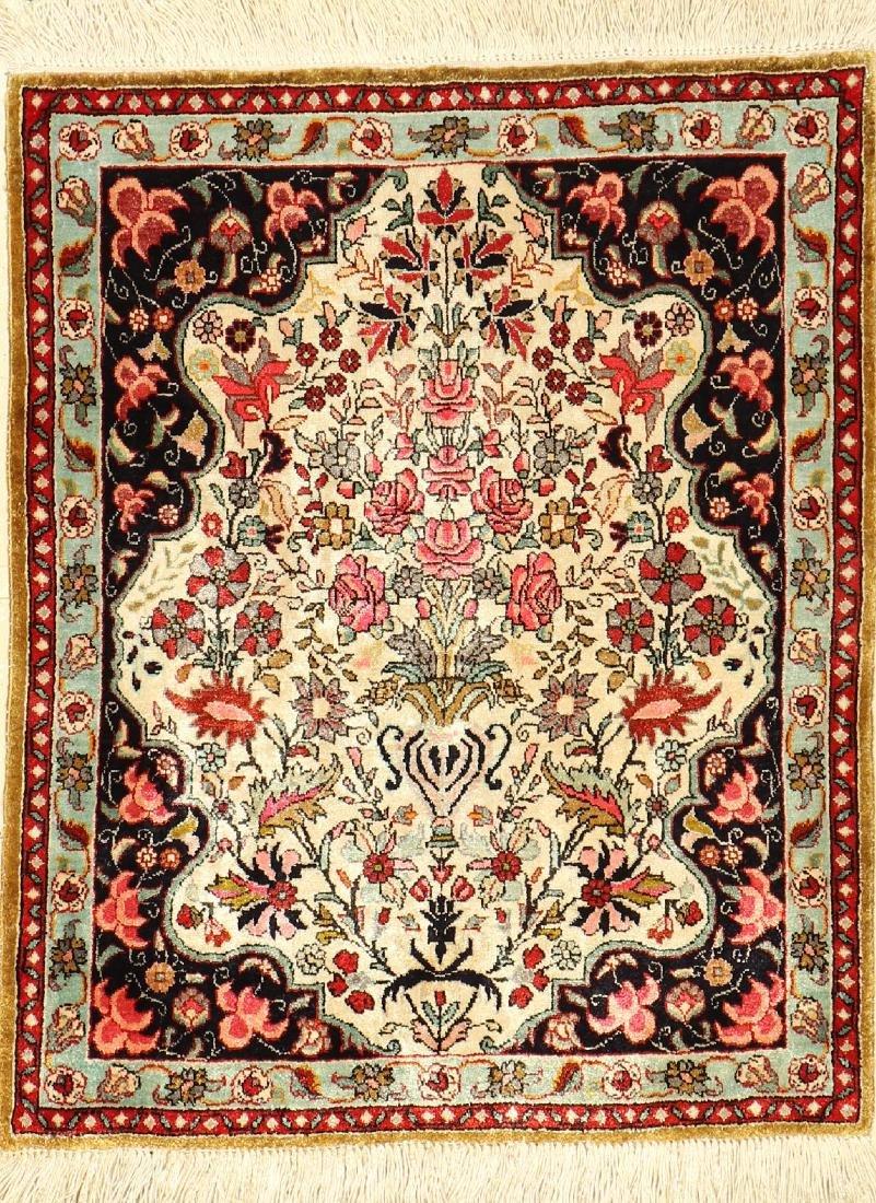 Fine Silk Qum Rug,