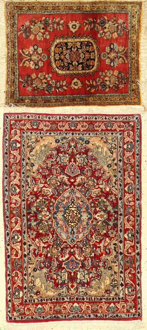 (2 Lots) 1x Isfahan, 1x Silk Qum Rugs,