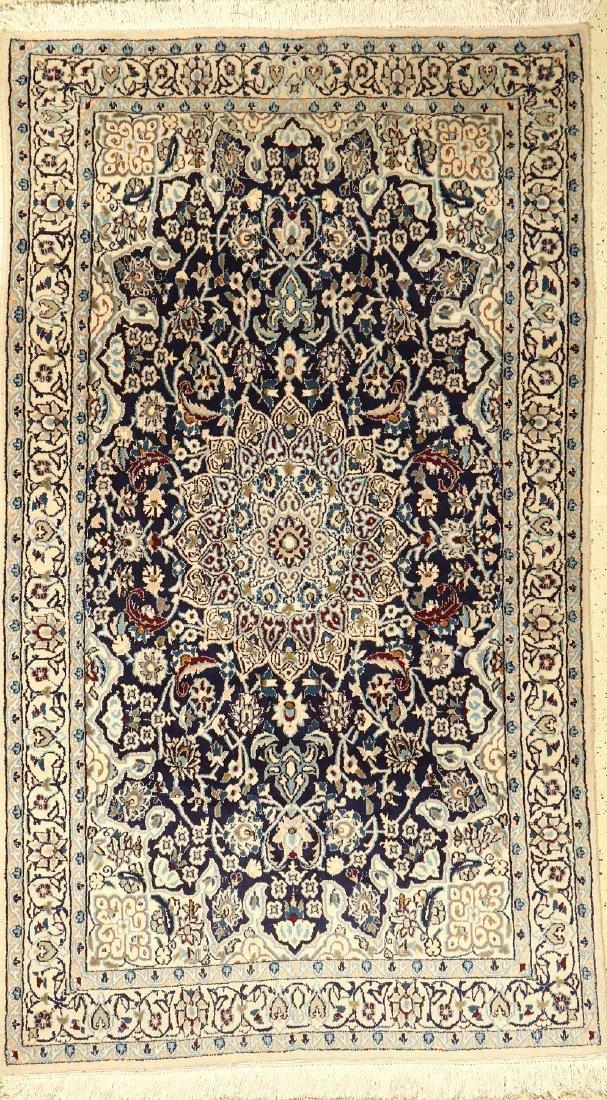'Part-Silk' Nain Rug,