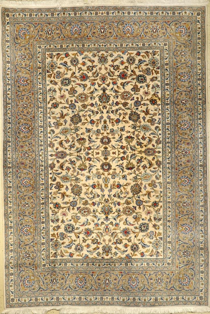 Kurk Kashan Carpet,