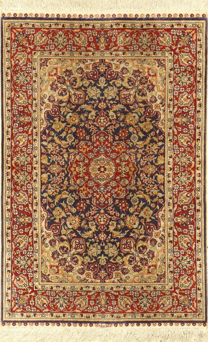 Fine Chinese Silk Hereke Rug,