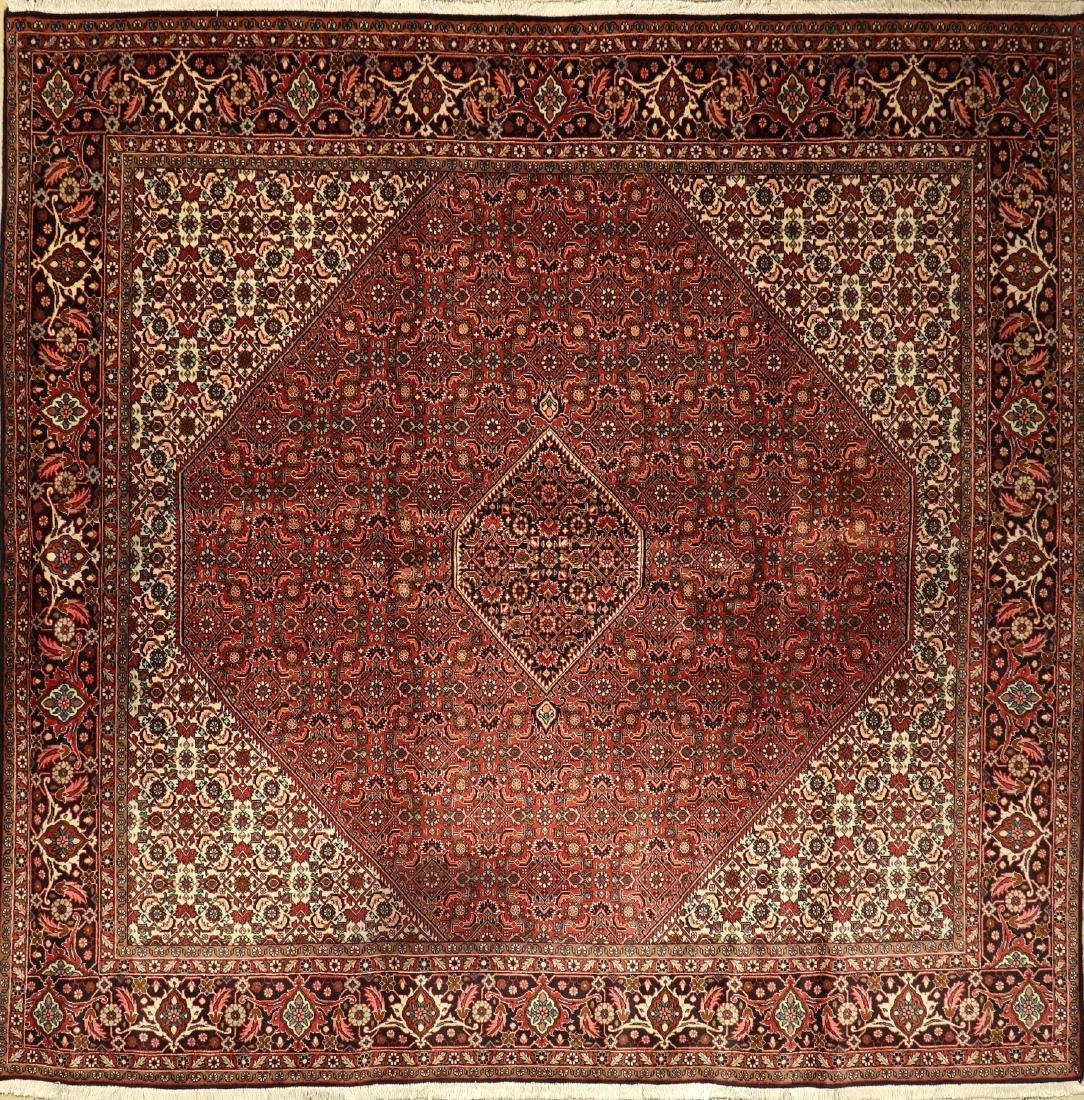 Square Bijar Rug,