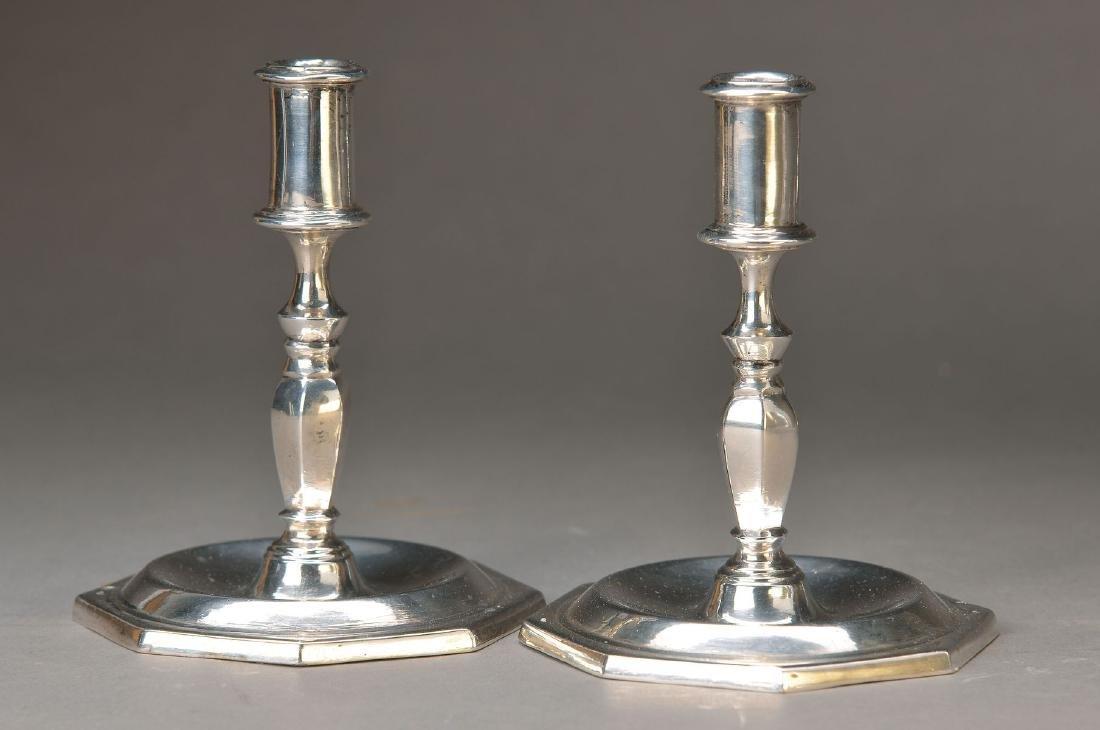 A pair of candlesticks