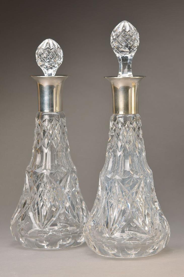 pair crystal carafes, WMF